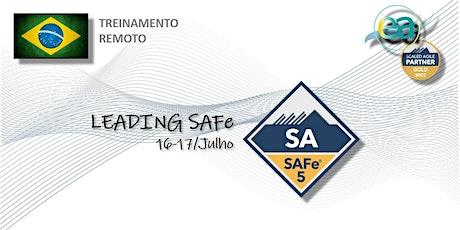 Treinamento remoto SAFe® Leading SAFe (SA) com  exame para certificação bilhetes