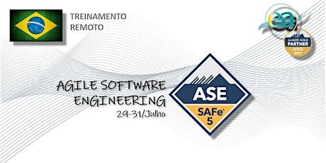 Treinamento remoto SAFe® Agile Software Engineering c/ exame p/certificação bilhetes