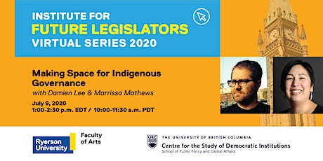 Making Space for Indigenous Governance  (IFL Virtual Series) tickets