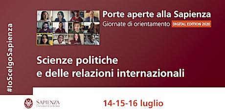 Area scienze politiche e relazioni internazionali biglietti