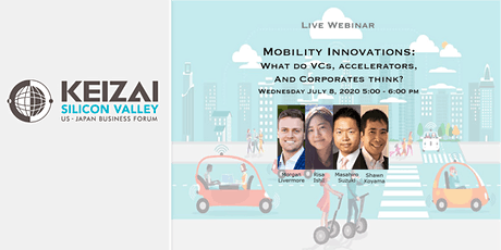 Mobility innovations: What do VCs, accelerators, and Corporates think? tickets