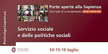 Area del servizio sociale e delle politiche sociali biglietti