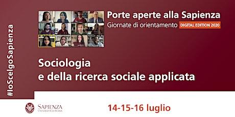 Area della sociologia e della ricerca sociale applicata biglietti