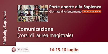 Area della comunicazione-corsi di laurea magistrale biglietti
