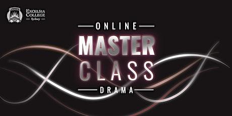 Online Masterclass - Drama (With Jay Laga'aia) 2020 tickets