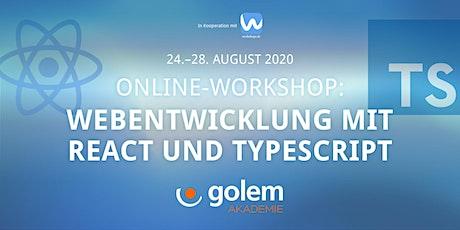 Webentwicklung mit React and Typescript tickets
