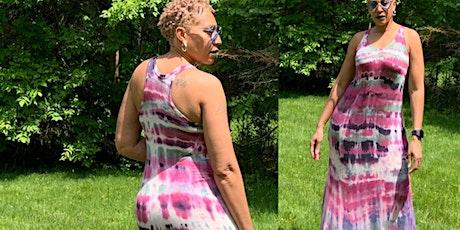 Tie Dye Razor Back dress- sewing class tickets