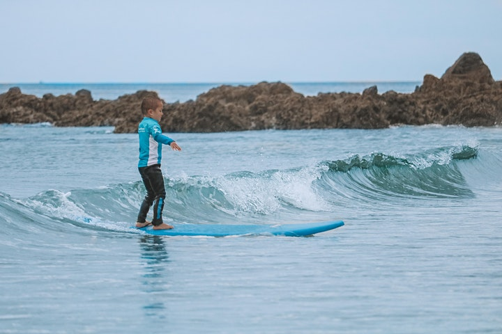 Daily Surf Lesson (All Ages) 11am at Te Arai image