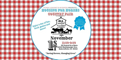 Housing for Horses Country Fair and Raffle- to benefit All Seated in a Barn tickets