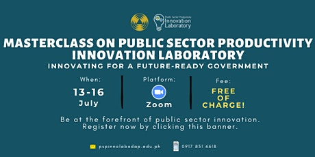 Masterclass on Public Sector Productivity Innovation Laboratory tickets