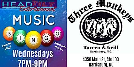 Music Bingo returns to Three Monkeys Tavern & Grill tickets