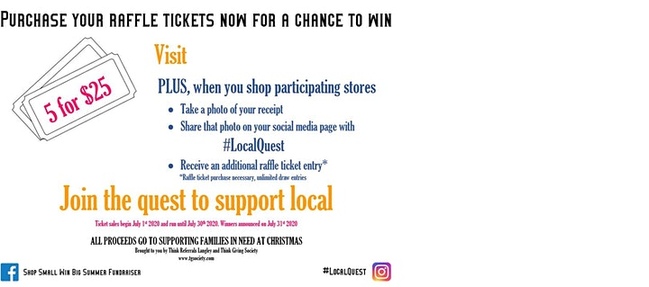 Shop Small Win Big Summer Fundraiser image