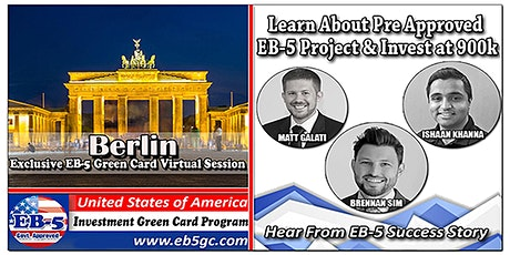 Berlin EB-5 American Green Card Virtual Market Series tickets