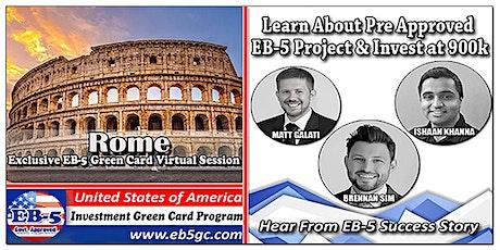 Rome EB-5 American Green Card Virtual Market Series biglietti