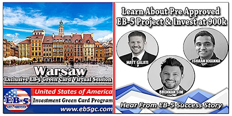 Warsaw EB-5 American Green Card Virtual Market Series tickets