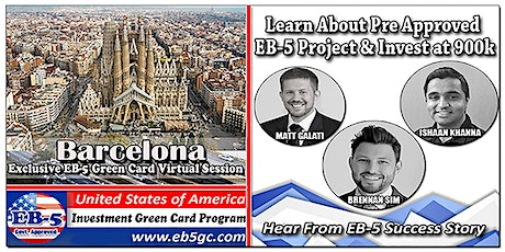 Barcelona EB-5 American Green Card Virtual Market Series tickets