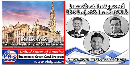 Brussels EB-5 American Green Card Virtual Market Series tickets