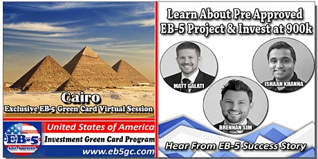Cairo EB-5 American Green Card Virtual Market Series tickets