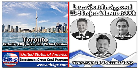 Toronto EB-5 American Green Card Virtual Market Series tickets