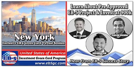 New York EB-5 American Green Card Virtual Market Series tickets