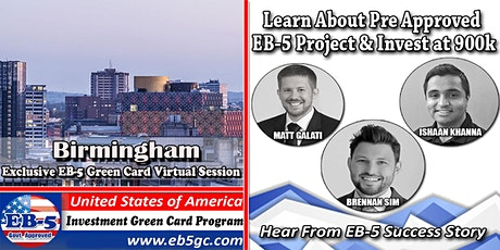 Birmingham EB-5 American Green Card Virtual Market Series tickets