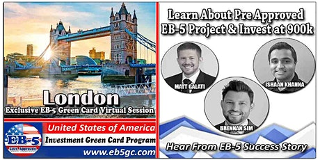 London  EB-5 American Green Card Virtual Market Series tickets