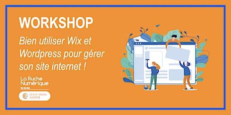 [WORKSHOP] Bien utiliser Wix & Wordpress pour gérer son site Internet !  billets
