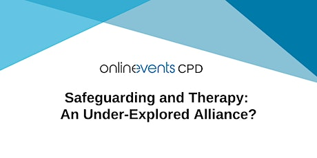 Safeguarding and Therapy: An Under-Explored Alliance? tickets