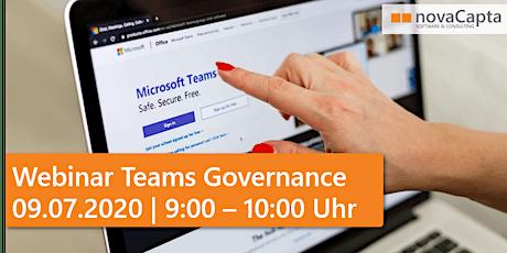 Webinar Teams Governance - Möglichkeiten und Tools tickets