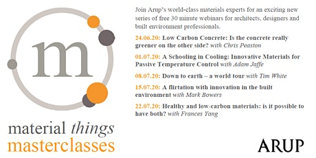 Material Things Masterclass -  Healthy and low-carbon materials tickets