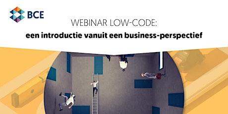 Webinar: Low-code - Een introductie vanuit een business-perspectief tickets
