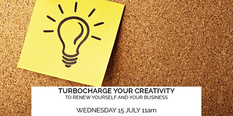 (Webinar) Turbocharge your creativity to renew yourself and your business tickets