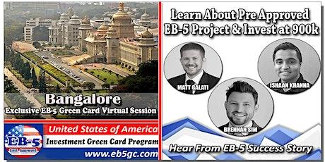 Bangalore  EB-5 American Green Card Virtual Market Series tickets