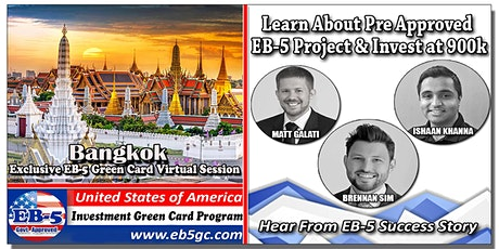 Bangkok  EB-5 American Green Card Virtual Market Series tickets
