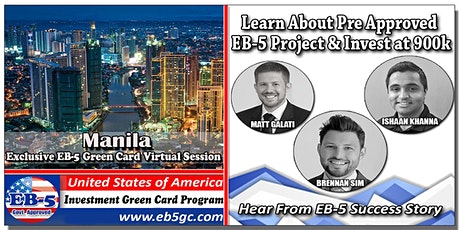 Manila  EB-5 American Green Card Virtual Market Series tickets