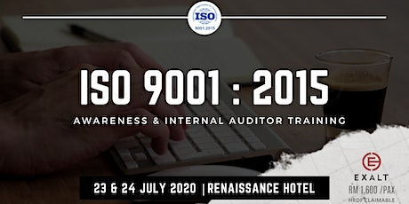 ISO 9001:2015 Awareness & Internal Quality Auditor Training tickets