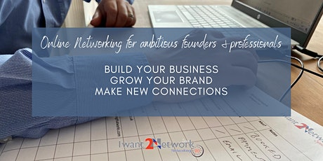 October IW2N90: online  networking for professionals & business owners tickets