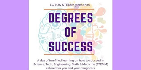 Degrees of Success Virtual Conference by Lotus STEMM tickets