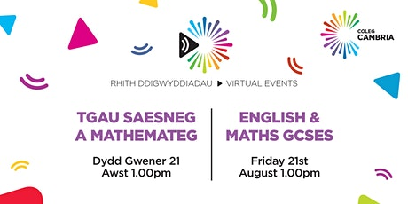 Virtual Event:  English and Maths GCSE   |   Saesneg a Mathemateg TGAU tickets
