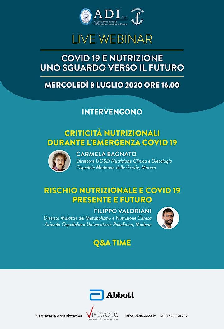 Immagine COVID-19 E NUTRIZIONE: UNO SGUARDO VERSO IL FUTURO.