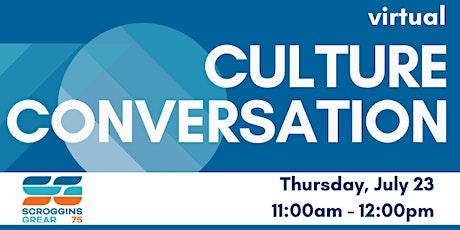 Culture Conversation tickets