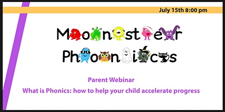 Parent Webinar. What is phonics? How to help your child make progress tickets