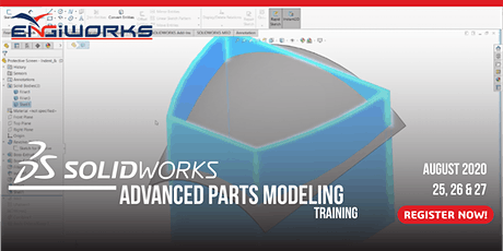 SOLIDWORKS Advanced Parts Modeling Training tickets