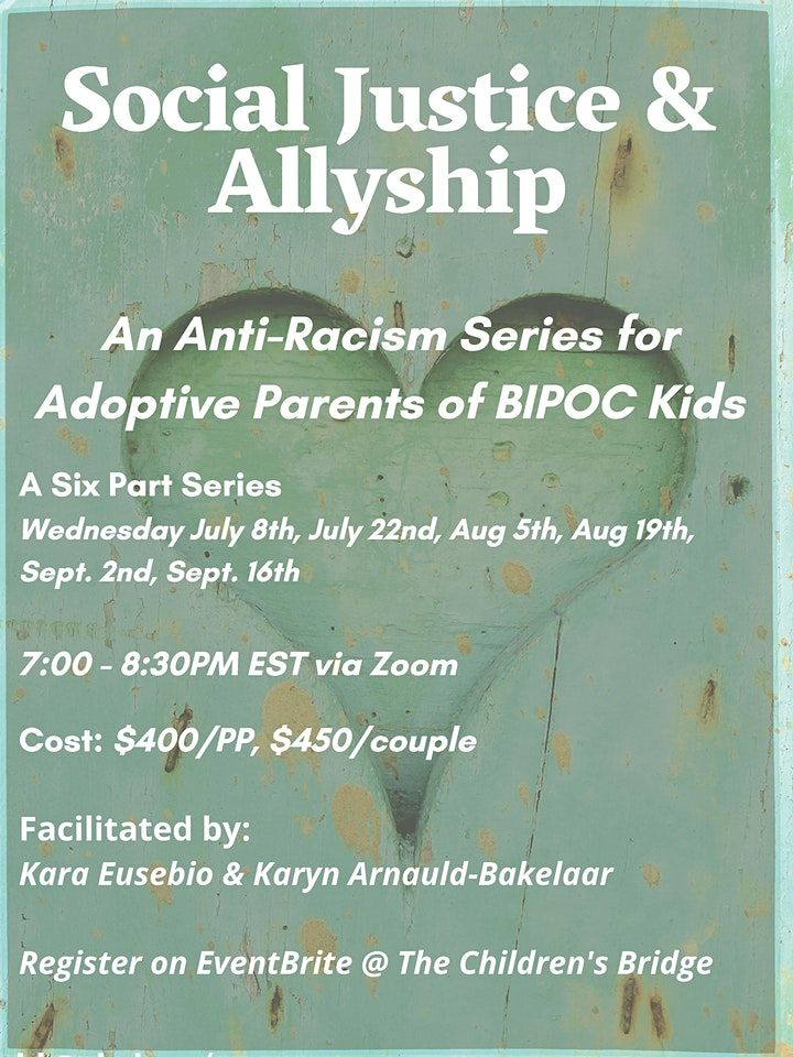 Social Justice and Ally-ship: An Anti Racism Series for Adoptive Parents image