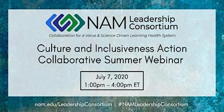 Culture and Inclusiveness Action Collaborative Summer 2020 Webinar tickets