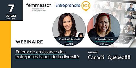 Webinaire | Enjeux de croissance des entrepreneures issues de la diversité tickets