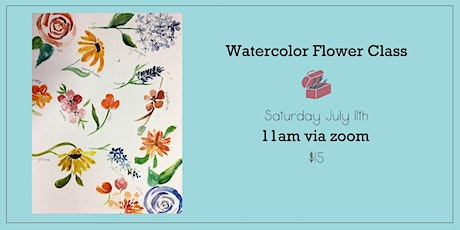 Watercolor Flowers Workshop tickets