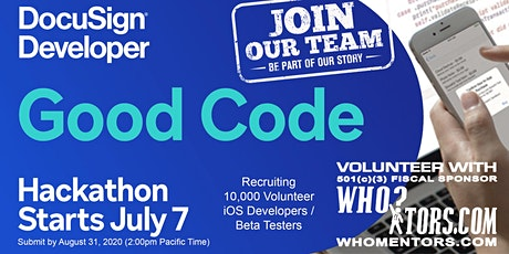 Join Our Good Code Hackathon Team, Recruiting 10,000 Volunteer iOS App Devs tickets
