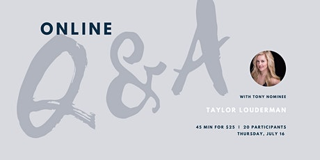 Q&A with Taylor Louderman tickets