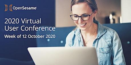 2020 OpenSesame  virtual user conference entradas